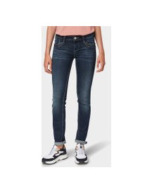 Tom Tailor Carrie Straight Jeans, Dames, Dark Stone Wash Denim, 33/30 afbeelding