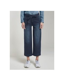 Tom Tailor Culotte Met Plooi, Dames, Dark Blue Denim, 31 afbeelding
