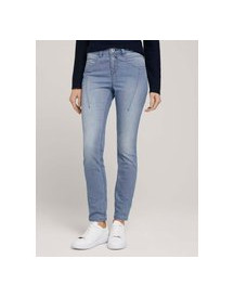 Tom Tailor Gestreepte Relaxed Jeans, Clean Mid Stone Blue Denim, 26/32 afbeelding