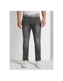 Tom Tailor Josh Regular Slim Chino Jeans, Heren, Grey Denim, 31/32 afbeelding