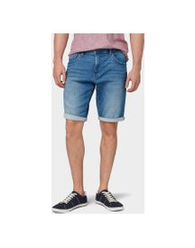 Tom Tailor Josh Regular Slim Denim Short, Heren, Light Stone Wash Denim, 40 afbeelding