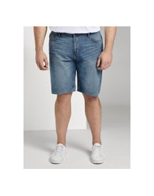 Tom Tailor Josh Regular Slim Denim Shorts, Heren, Light Stone Wash Denim, 46 afbeelding