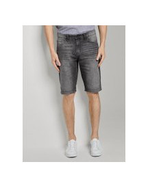 Tom Tailor Josh Regular Slim Denim Shorts In Vintage Wash, Heren, Grey Denim, 34 afbeelding