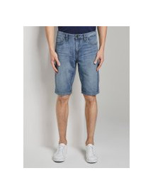 Tom Tailor Josh Regular Slim Denim Shorts In Vintage Wash, Heren, Light Stone Wash Denim, 34 afbeelding