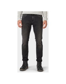 Tom Tailor Josh Regular Slim Jeans, Heren, Black Denim, 34/34 afbeelding