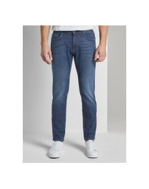 Tom Tailor Josh Regular Slim Jeans, Heren, Dark Stone Wash Denim, 32/34 afbeelding