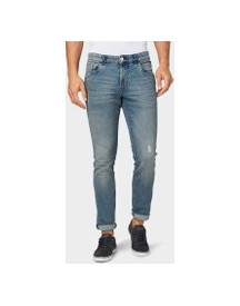 Tom Tailor Josh Regular Slim Jeans, Heren, Light Stone Wash Denim, 31/34 afbeelding