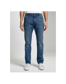 Tom Tailor Josh Regular Slim Jeans, Heren, Used Bleached Blue Denim, 38/34 afbeelding