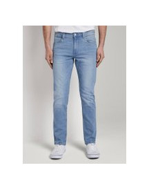 Tom Tailor Josh Regular Slim Jeans Met Offset Coin Pocket, Heren, Bright Blue Denim, 33/32 afbeelding