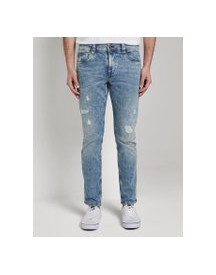 Tom Tailor Josh Regular Slim Jeans Met Offset Coin Pocket, Heren, Vintage Stone Wash Denim, 30/34 afbeelding