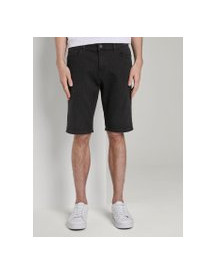 Tom Tailor Josh Regular Slim Jeans Shorts Met Superstretch, Heren, Black Stone Wash Denim, 32 afbeelding