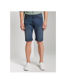 Tom Tailor Josh Regular Slim Jeans Shorts Met Superstretch, Heren, Mid Stone Wash Denim, 31 afbeelding