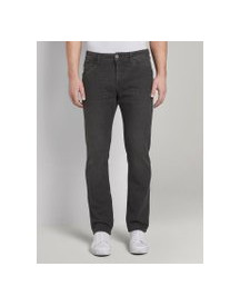 Tom Tailor Josh Slim Tech Denim, Heren, Black Stone Wash Denim, 34/30 afbeelding