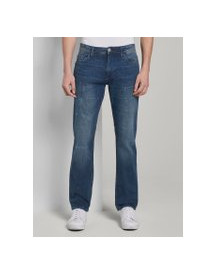 Tom Tailor Josh Slim Tech Denim, Heren, Mid Stone Wash Denim, 30/30 afbeelding