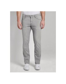 Tom Tailor Josh Slim Tech Denim, Heren, Used Light Stone Grey Denim, 38/32 afbeelding