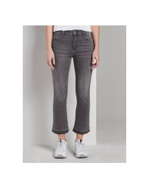Tom Tailor Kate Kick Flare Jeans, Dames, Grey Denim, 29 afbeelding