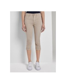 Tom Tailor Kate Slim Capri Broeken, Dames, Dusty Taupe, 29 afbeelding