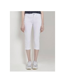 Tom Tailor Kate Slim Capri Broeken, Dames, White, 30 afbeelding