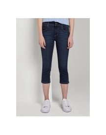 Tom Tailor Kate Slim Capri Jeans, Dames, Dark Stone Wash Denim, 28 afbeelding