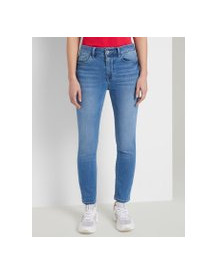 Tom Tailor Kate Slim Enkellengte Jeans, Dames, Mid Stone Bright Blue Denim, 25 afbeelding