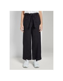 Tom Tailor Kate Straight Culotte In Enkellengte, Dames, Clean Rinsed Blue Denim, 28 afbeelding