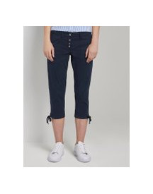 Tom Tailor Knoopvormige Tapered Relaxed Broek, Dames, Sky Captain Blue, 40 afbeelding