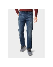 Tom Tailor Marvin Straight Jeans, Heren, Dark Stone Wash Denim, 30/32 afbeelding