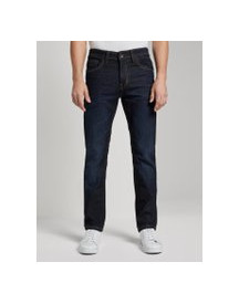Tom Tailor Marvin Straight Jeans, Heren, Dark Stone Wash Denim, 31/30 afbeelding