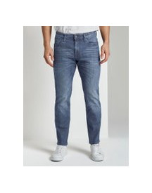 Tom Tailor Marvin Straight Jeans In Lichte Wassing, Heren, Dark Stone Wash Denim, 31/32 afbeelding