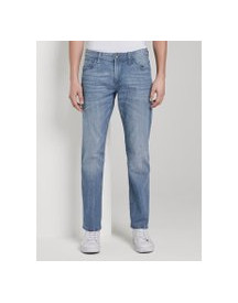 Tom Tailor Marvin Straight Jeans In Lichte Wassing, Heren, Mid Stone Wash Denim, 31/34 afbeelding