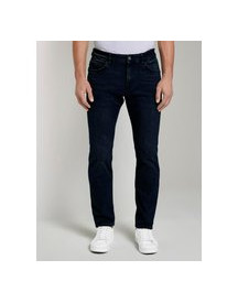Tom Tailor Marvin Straight Jeans Met Pocket Detail, Dark Blue Denim, 30/30 afbeelding