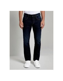 Tom Tailor Marvin Straight Jeans Met Pocket Detail, Dark Stone Wash Denim, 33/30 afbeelding