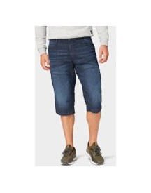 Tom Tailor Max Bermuda Jeans, Heren, Dark Stone Wash Denim, 30 afbeelding