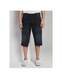 Tom Tailor Morris Relaxed Bermuda Denim Shorts, Heren, Black Stone Wash Denim, 29 afbeelding