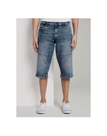 Tom Tailor Morris Relaxed Bermuda Denim Shorts, Heren, Light Stone Wash Denim, 33 afbeelding