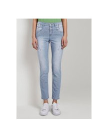 Tom Tailor Tapered Relaxed Jeans, Dames, Clean Mid Stone Blue Denim, 28/32 afbeelding