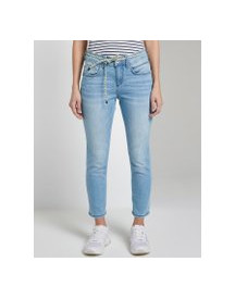 Tom Tailor Tapered Relaxed Jeans In 7/8 Lengte, Dames, Used Light Stone Blue Denim, 28 afbeelding