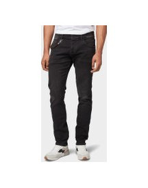 Tom Tailor Troy Slim Fit Jeans, Heren, Black Stone Wash Denim, 38/32 afbeelding