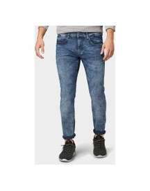 Tom Tailor Troy Slim Fit Jeans, Heren, Mid Stone Wash Denim, 33/34 afbeelding