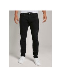 Tom Tailor Troy Slim Jeans, Black Black Denim, 30/34 afbeelding