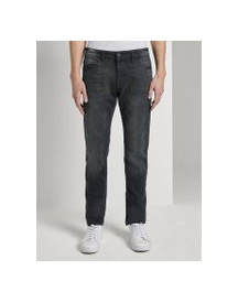 Tom Tailor Troy Slim Jeans, Heren, Black Stone Wash Denim, 33/34 afbeelding