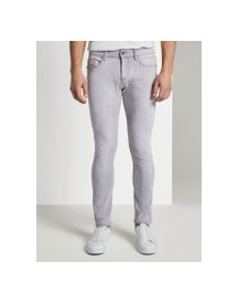Tom Tailor Troy Slim Jeans, Heren, Used Light Stone Grey Denim, 34/34 afbeelding