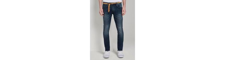 Image Tom Tailor Denim Culver Super Skinny Performance Stretch Effect, Heren, Used Dark Stone Blue Denim, 34/34