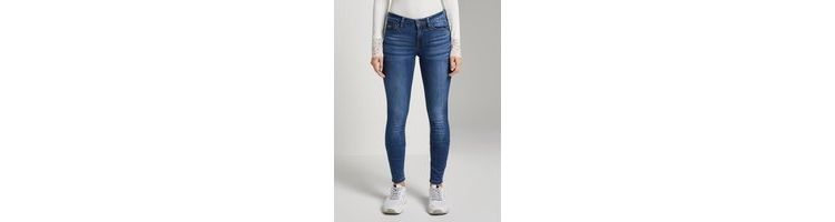 Image Tom Tailor Denim Jona Extra Skinny Jeans, Clean Mid Stone Blue Denim, 25/30