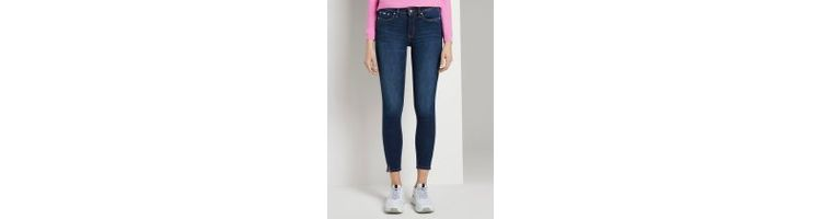 Image Tom Tailor Denim Nela Extra Skinny Push Up Effect, Dames, Dark Stone Wash Denim, 29