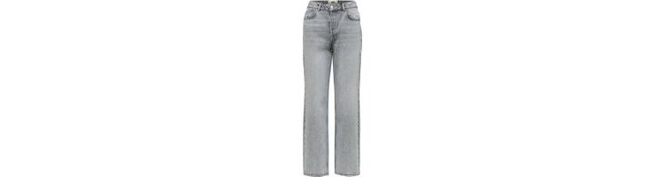 Image Selected High-waist Straight Fit Jeans Dames Grijs