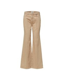 Selected High-waist Bootcut Jeans Dames Beige afbeelding