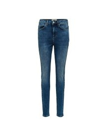 Selected High-waist Skinny Jeans Dames Blauw afbeelding