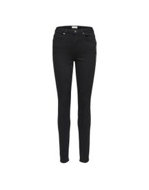 Selected High Waist - Skinny Jeans Dames Zwart afbeelding