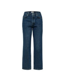 Selected High Waist Straight Fit Jeans Dames Blauw afbeelding